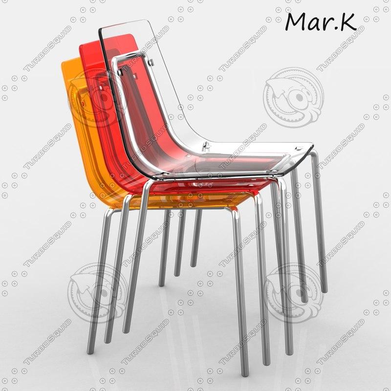 3d plastic chair wind