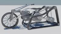 trike bike 3d model