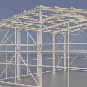 structure building factory 3d model