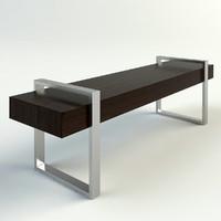 julia bench 3d model