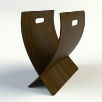 chaisso magazine rack 3d model