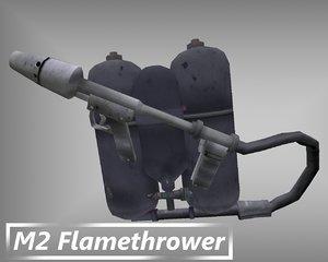 m2 flamethrower dxf