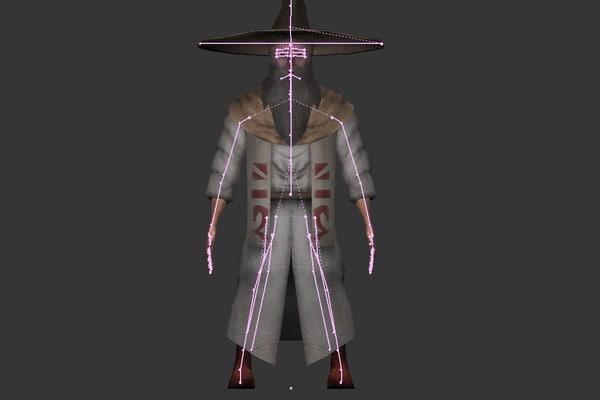 maya wizard character run