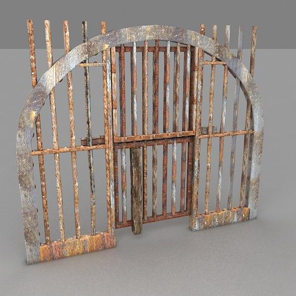 3dsmax prison door metal