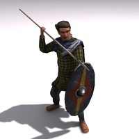 Low poly germanic Spearman