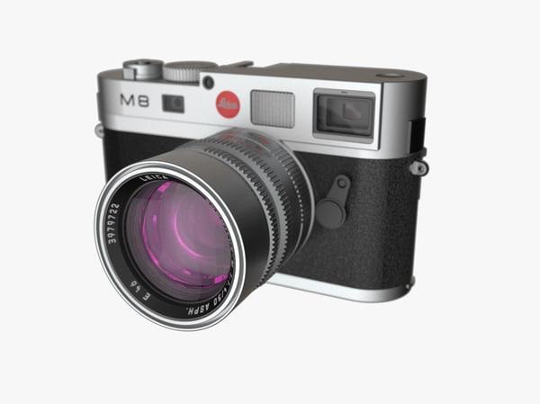 leica m8 digital camera 3d fbx