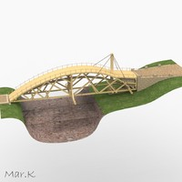 swing bridge 3d obj