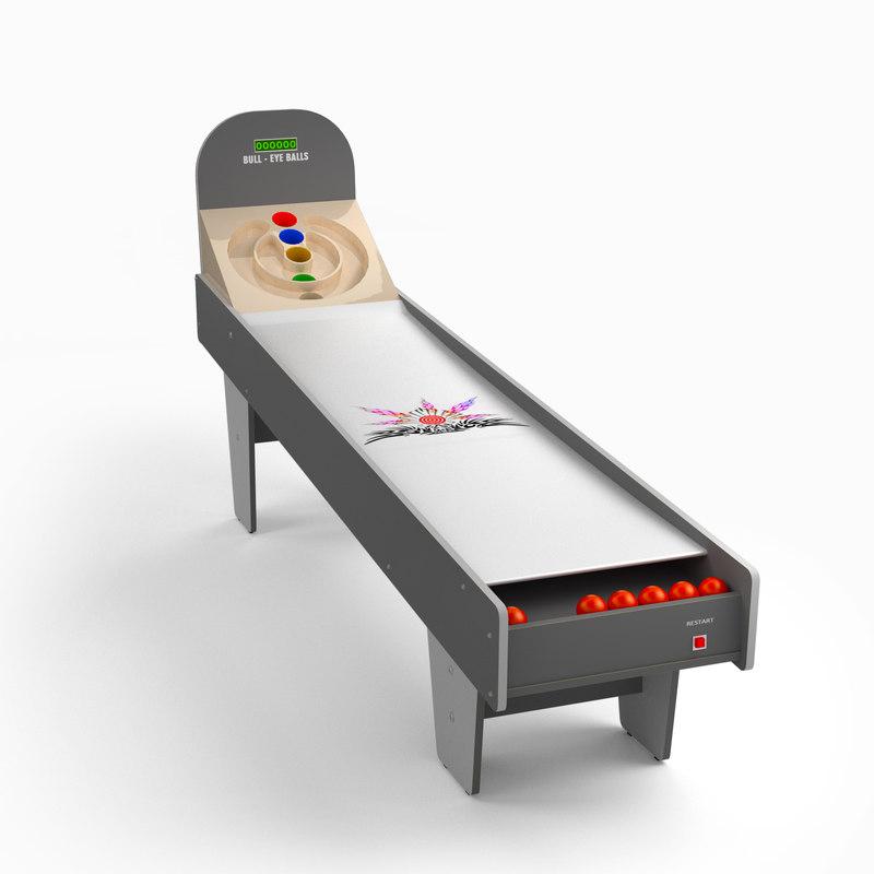 skeeball table 3d model