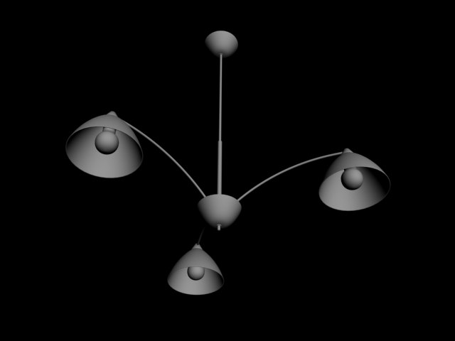 3d model triple lamp