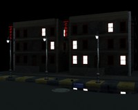 apartment street 3d max