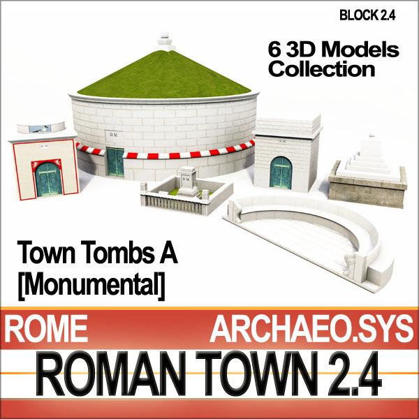 c4d ancient roman town monumental