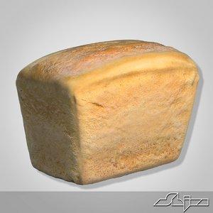 3d bread modeled