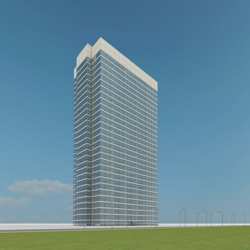 new skyscraper 34 3d max