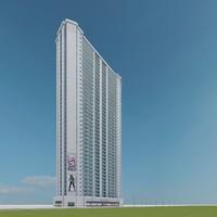 new skyscraper 28 3d max