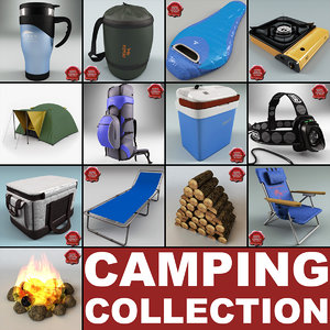 camping campfire chair 3d max