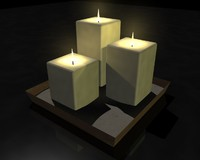 candles tray 3d max