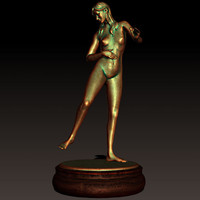 woman girl statue 3ds