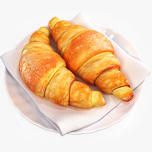 3d model croissants