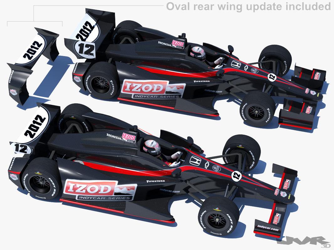 indycar 2012 race car 3d max