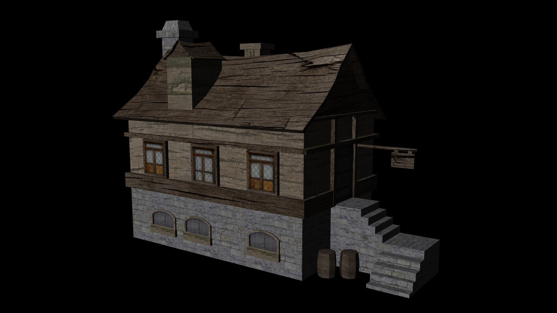 pub house mmo 3d obj