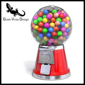 3d model gum gumball machine