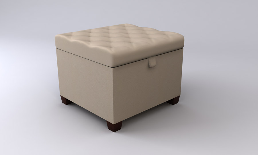 3d luxury stool