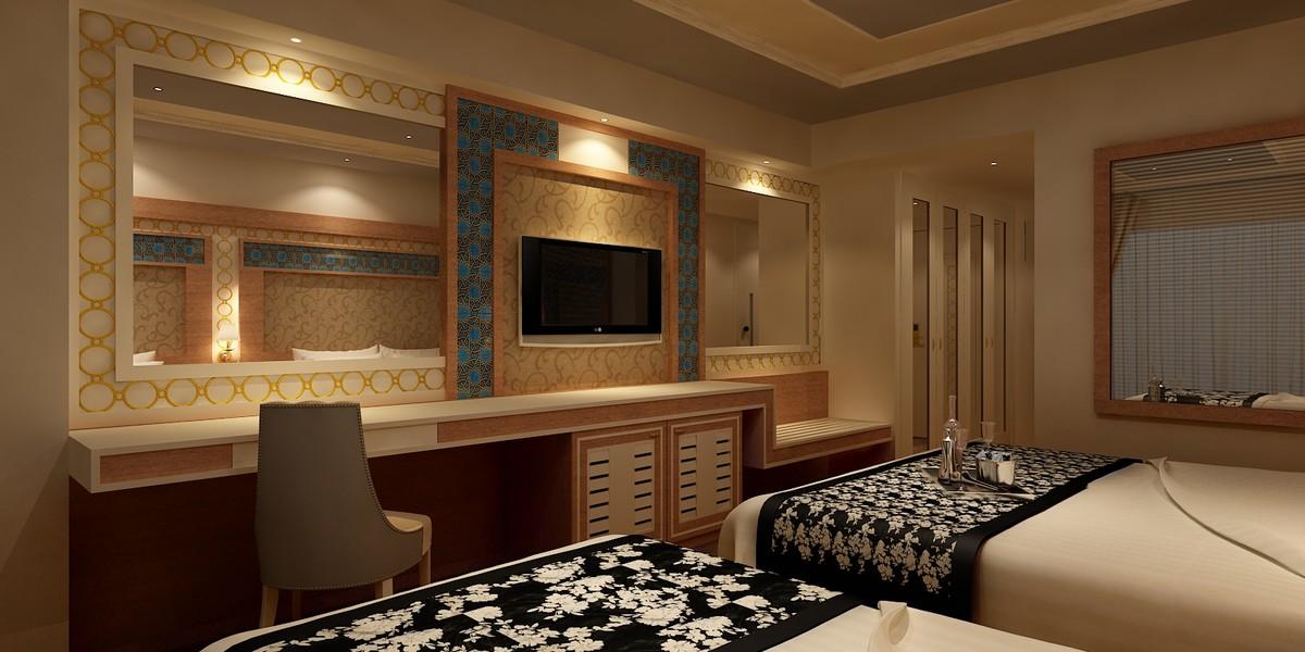3d model designed hotel room