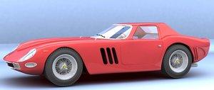 3d model of sport cars classic