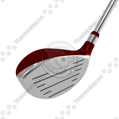 3ds max red brassy golf
