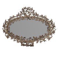 Jumbo Regency baroque oval Mirror