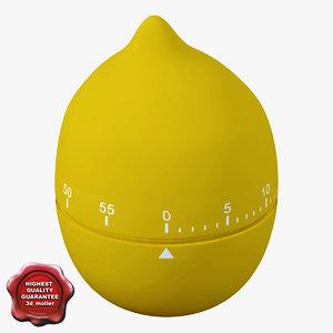 kitchen timer lemon 3d max