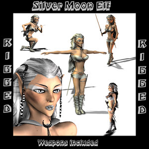 3d silver elf model