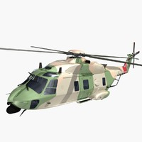 nhindustries helicopter royal air force 3d model