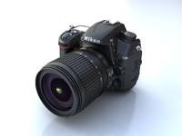 nikon d7000 digital camera 3d max