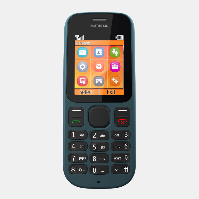 nokia 100 mobile phone 3d model