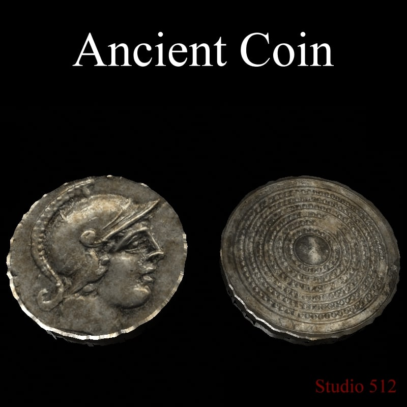 3d model ancient coin