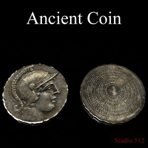 3d model ancient coin