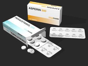 3d aspirin paracetamol model