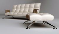 Modern Sofa & Ottomans