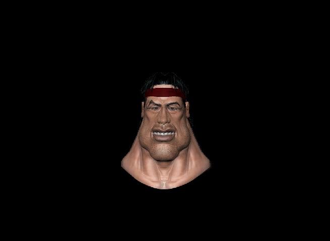 3d rambo head