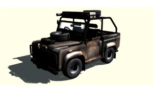 land rover defender vehicle obj