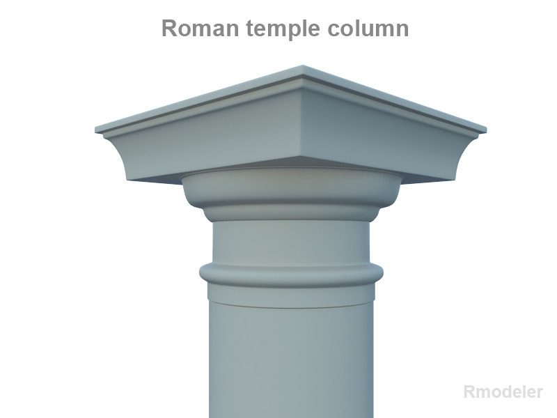 column roman temple 3d model