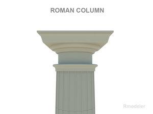 3d model roman column