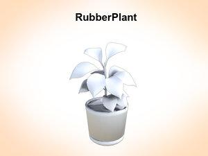 3d rubber plant