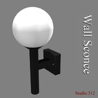 3d model wall sconce light fixture