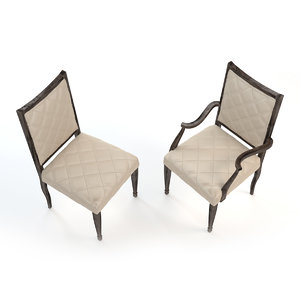 dining chair swaim - 3d model