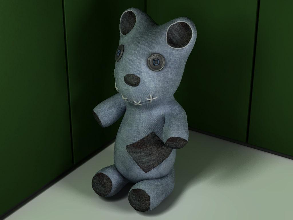 teddy bear ragdoll 3d model