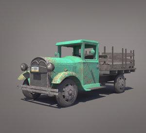 old pickup truck 3d model