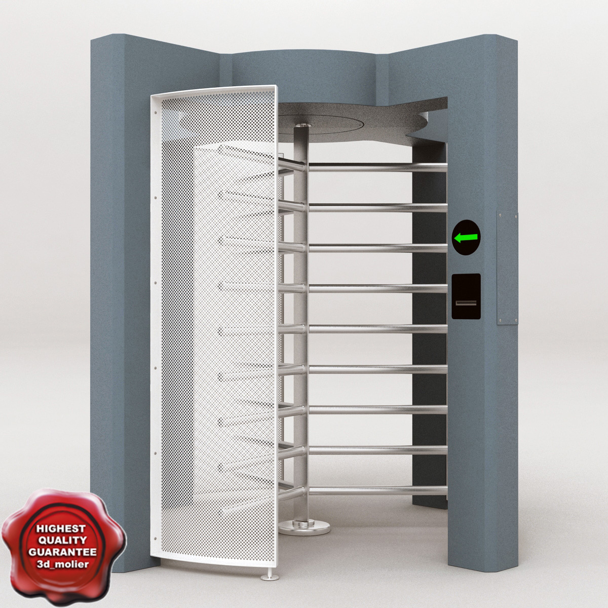 turnstile v4 3d model
