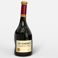 3d red wine bottle